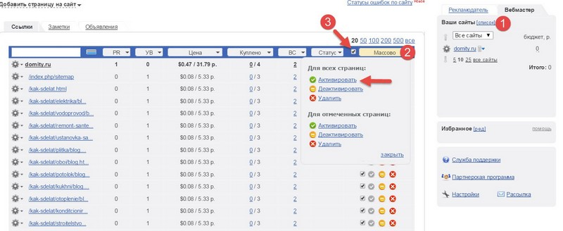 активирование-страниц-сайта-Mainlink.ru