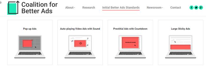 Google прекратит показ объявлений не в формате Better Ads Standards